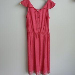 Roxy Girl pink print midi dress 16/XXL
